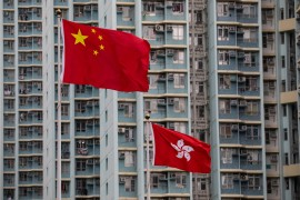 The UK says it is considering the removal of its judges from Hong Kong's Final Court of Appeal amid concern about the territory's autonomy [Jerome Favre/EPA]