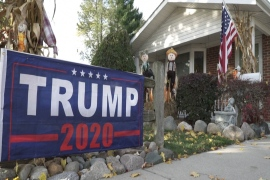 US election: Neighbours on opposite sides of the political divide