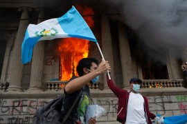 Guatemala protesters torch Congress as simmering anger boils over