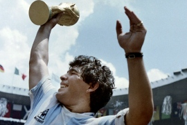 Football legend Diego Maradona remembered