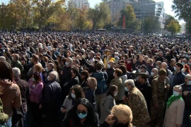 Protesters in Armenia call for prime minister to step down