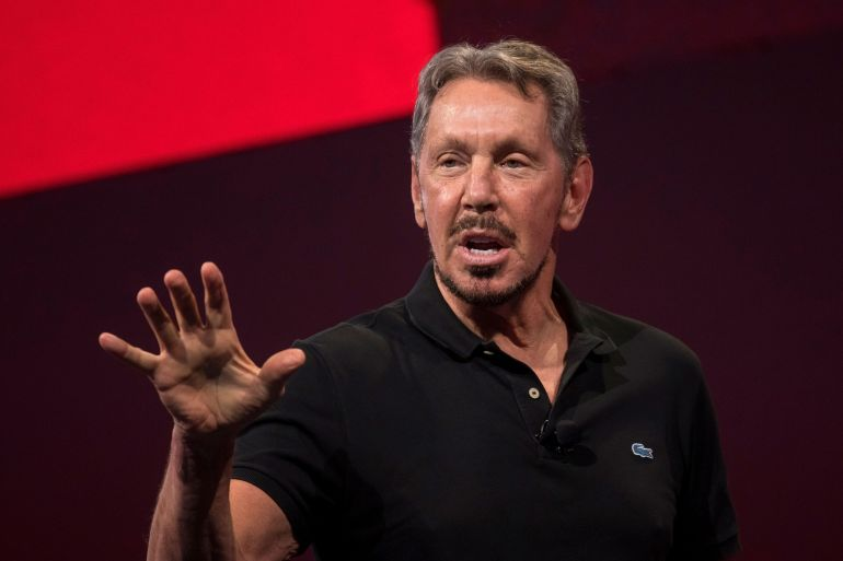 Larry Ellison has donated testing supplies and invested in the island's hospital, while leaders at his company have directed the response in tandem with Lanai's local government [File: Bloomberg]