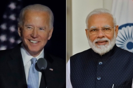 Modi also extended his best wishes to Vice President-elect Kamala Harris, the daughter of an Indian immigrant whose election to the second highest public office in the US has been cheered in India [Reuters]