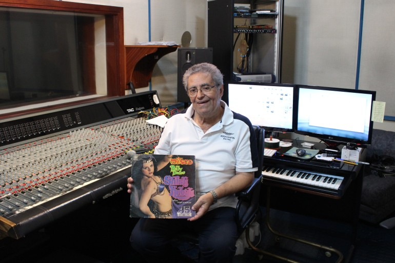 Lebanese composer and arranger Ihsan Al-Mounzer pioneered 'belly dance disco', a genre that fuses Western and Middle Eastern music [Natalie Shooter/Al Jazeera]