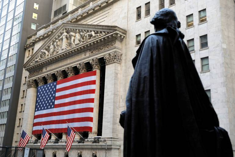 Wall Street's main indexes closed higher on Wednesday with the outcome of the US presidential race still uncertain [File: Andrew Kelly/Reuters]