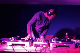 Mxolisi Makhubo DJ's at a session in Johannesburg [Photo courtesy of Charles Leonard]