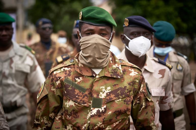 Mali, which underwent a coup in August, is in the hands of a transitional government [Michele Cattani/AFP]