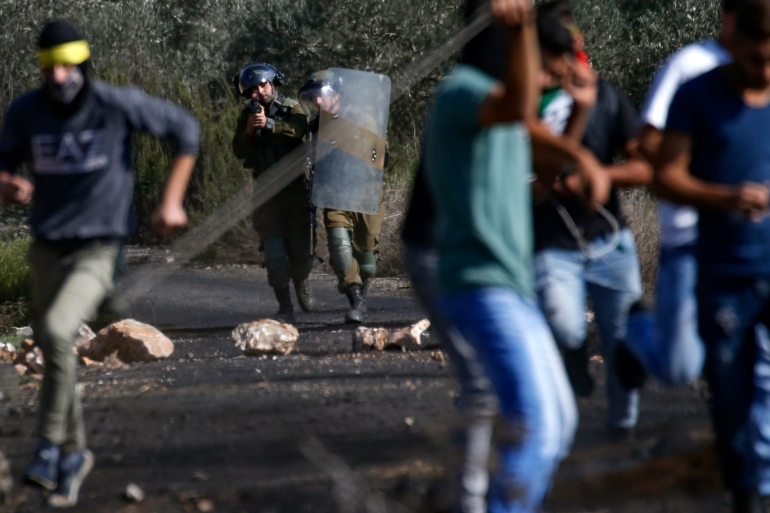 The Palestinian teenager was at a weekly protest against illegal Israeli settlements at al-Mughayyir village near Ramallah [File: Jaafar Ashtiyeh/AFP]