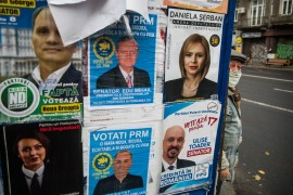 The first official results of the election are expected later on Sunday evening [Mihai Barbu/AFP]