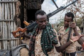 A communications blackout and tight restrictions on access to Tigray have made it very difficult for aid agencies to confirm the whereabouts and safety of their staff [File: Eduardo Soteras/AFP]