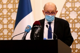 French Foreign Minister Jean-Yves Le Drian said during a visit to Doha that France's policies are not Islamophobic [AFP]