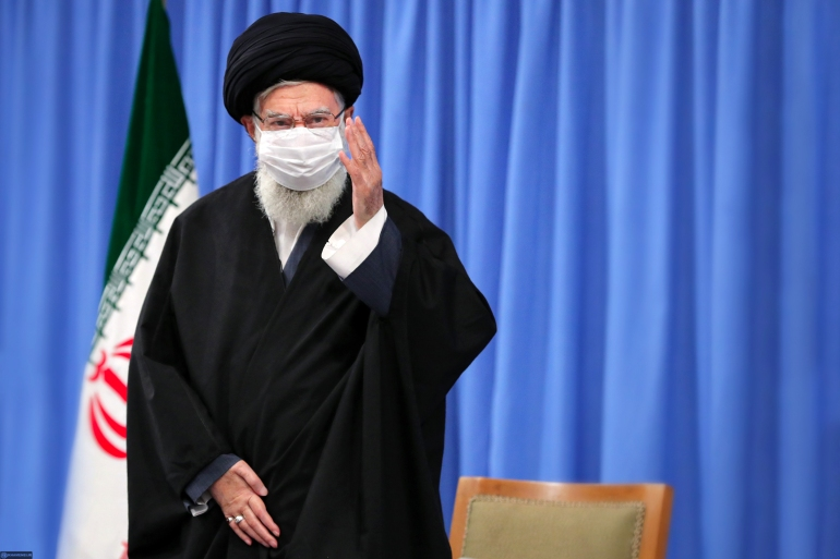 The United States Department of the Treasury blacklisted two Iranian foundations controlled by Supreme Leader Ayatollah Ali Khamenei and their subsidiaries, a hardline move by the Trump administration in the week it has left in office [File: Iranian Supreme Leader's Website/AFP]