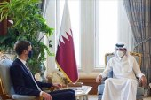 Qatar's Emir Sheikh Tamim bin Hamad Al Thani held talks in Doha on Wednesday with outgoing Trump adviser Jared Kushner [QNA]