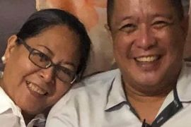 Dr Mary Rose Sancelan and her husband Edwin were on their way home on Tuesday when they were targeted by unknown gunmen on motorcycles [Courtesy of Karapatan rights group]
