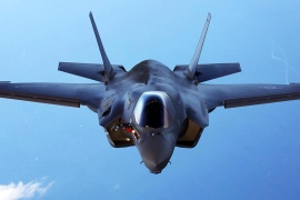 The Trump administration has formally notified Congress of intent to sell 50 advanced F-35 fighter jets to the UAE [File: US military handout/via Reuters]