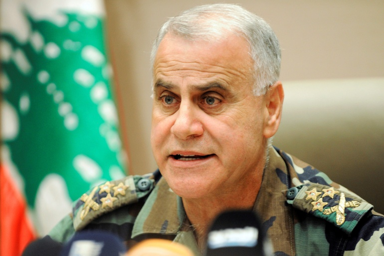 General Jean Kahwaji held the post of commander of Lebanon's armed forces from 2008 till 2017 [File: Hussam Chbaro/Reuters]