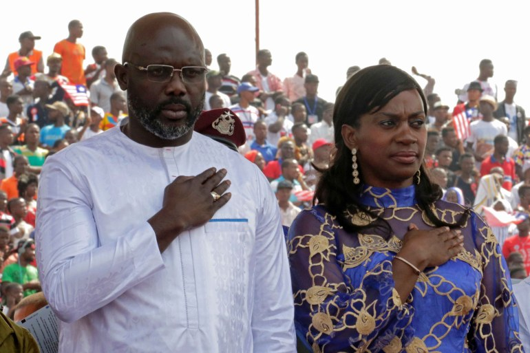 Liberian President George Weah came to power in January 2018 [File: Reuters/Thierry Gouegnon]
