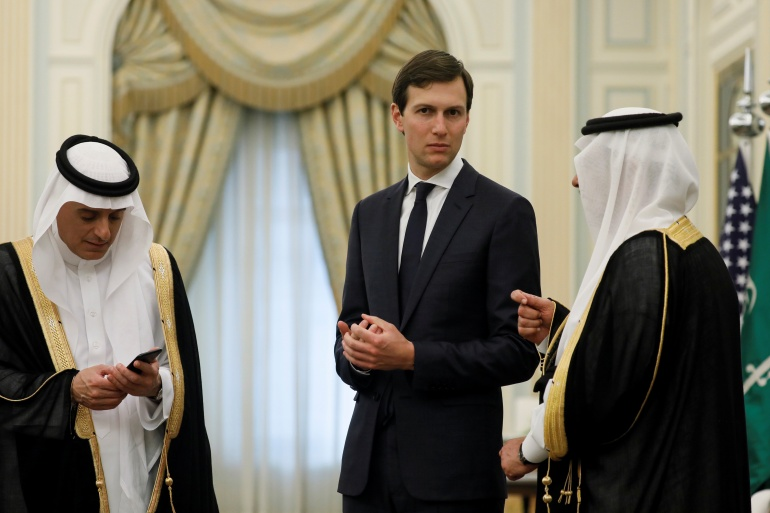 Kushner has been the White House's point man in the Middle East throughout the administration of his father-in-law Donald Trump [File: Jonathan Ernst/The Associated Press]