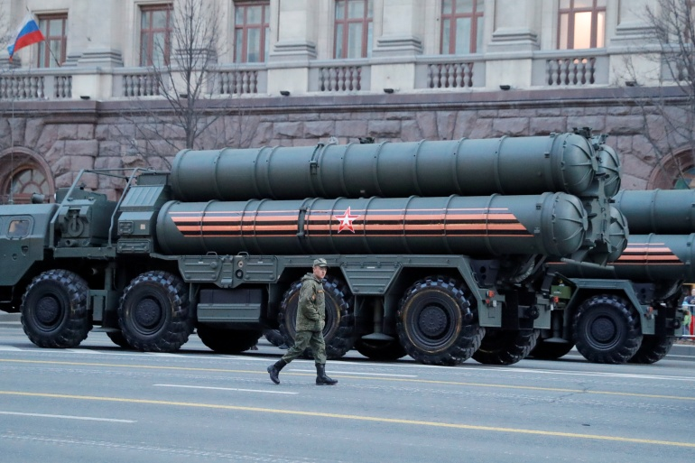 The Turkish defence ministry rejected claims that the S-400 systems will jeopardise NATO systems [File: Tatyana Makeyeva/Reuters]