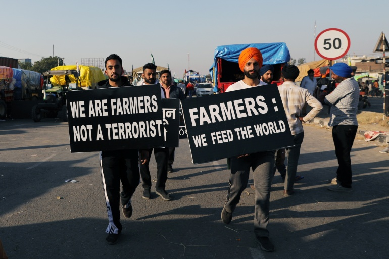 Farmers across India are protesting against new laws aimed at deregulating India's enormous agricultural sector [File: Anushree Fadnavis/Reuters]