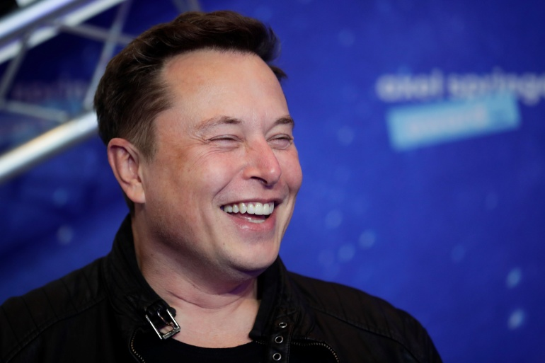 The 670 percent rally in Tesla's shares this year has boosted CEO Elon Musk's net worth from $27bn to $155bn [File: Hannibal Hanschke/Pool/Reuters]