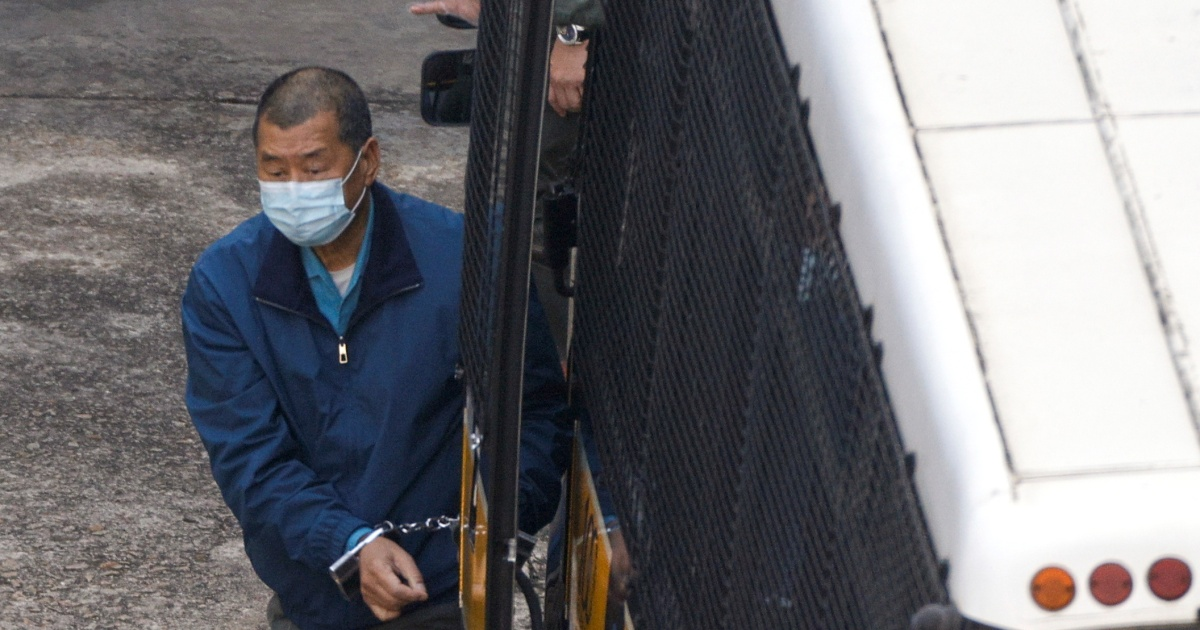 Hong Kong freezes shares of media tycoon Lai under security law