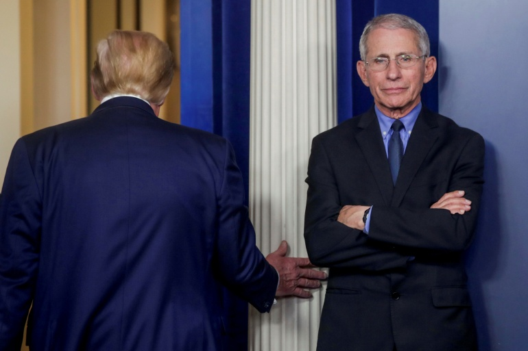 Fauci, who is part of the White House coronavirus task force, is set to meet with Biden's team on Thursday. [File: Jonathan Ernst/Reuters]