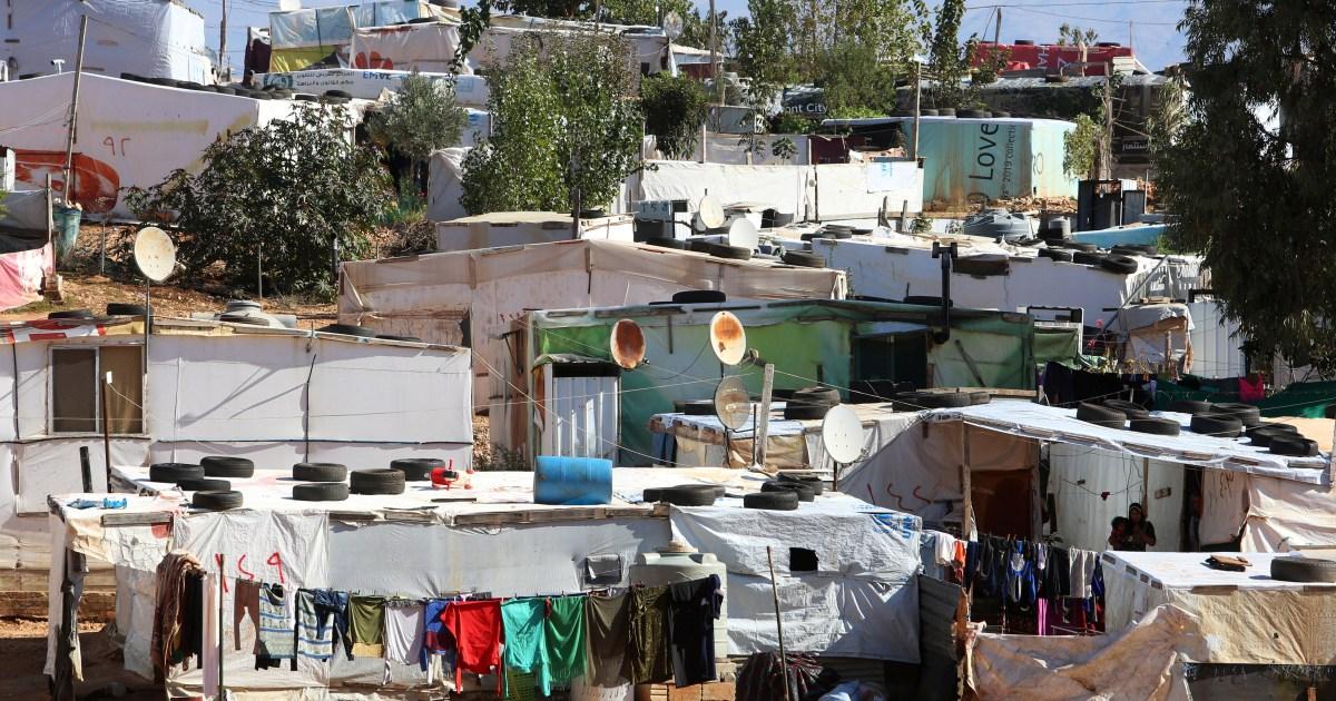 Syrian refugee camp in Lebanon set ablaze after combat