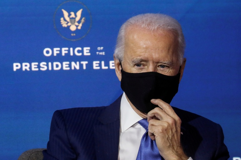 US President-elect Joe Biden has set up a COVID-19 task force to try to stem the spread of the deadly virus [File: Leah Millis/Reuters]