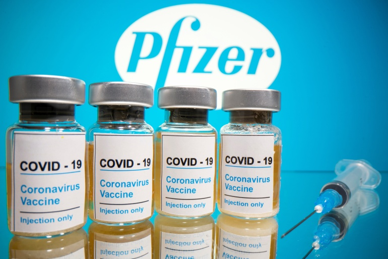 The Pfizer-BioNTech COVID-19 vaccine is among the top contenders in a global race to develop a successful inoculation [File: Dado Ruvic/Illustration/Reuters]