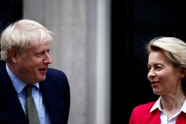 British Prime Minister Boris Johnson and European Commission President Ursula von der Leyen agreed on Monday to meet in person 'in the coming days' to see whether they can find common ground on a post-Brexit trade deal [File: Henry Nicholls/Reuters]
