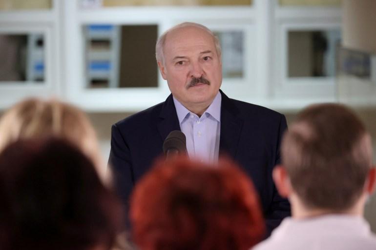 Belarus has been rocked by mass protests since August polls [File: Maxim Guchek/BelTA via Reuters]