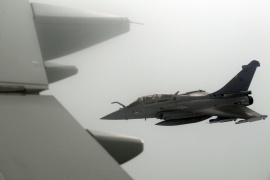 Greece is in a hurry to acquire the Rafale and pressed France to deliver the first squadron by May, six months ahead of the original schedule [File: Johanna Geron/Reuters]
