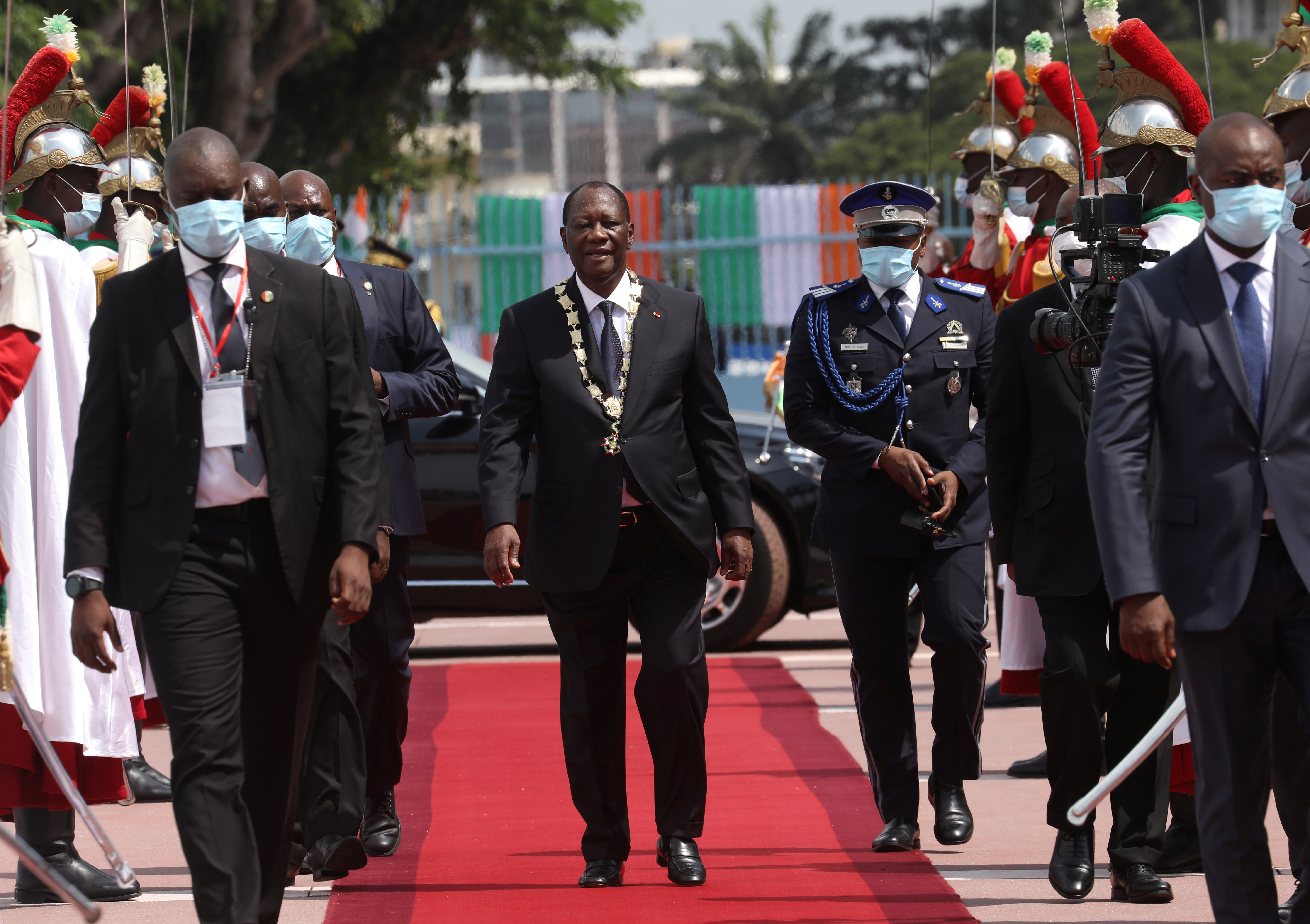 Ivory Coast's 78-Year-Old Ruler, Ouattara Sworn In For Third Term