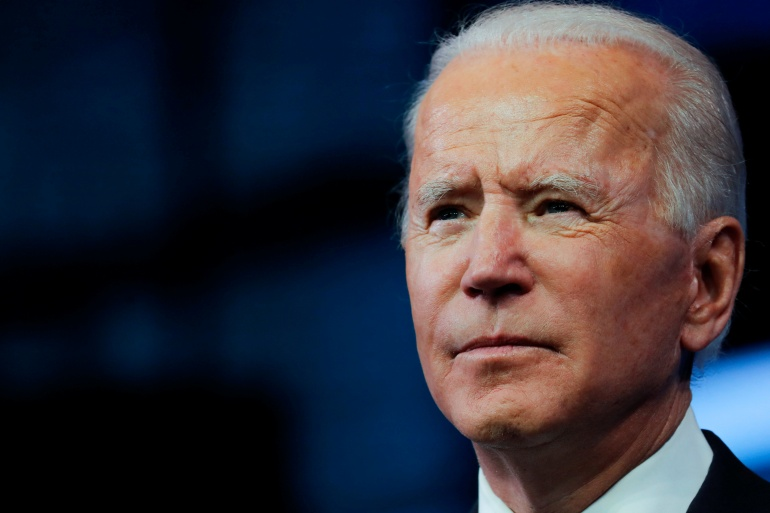 United States President-elect Joe Biden pledged to make cybersecurity a top priority of his incoming administration on Thursday, after an attack into US and other computer systems around the globe [Mike Segar/Reuters]