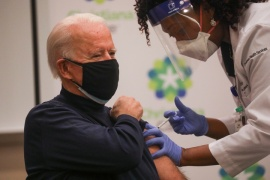US President-elect Joe Biden receives a dose of a vaccine against the coronavirus disease (COVID-19) at a hospital in Newark, Delaware, US [Leah Millis/Reuters]