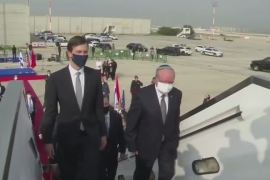The US-Israeli delegation took El Al Israel Airlines in the first direct flight by a commercial plane from Tel Aviv to Rabat [US embassy handout]