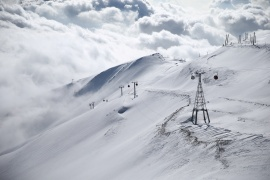 A general view shows the Tochal ski resort, in north of Tehran, Iran December 12, 2019 [File: Nazanin Tabatabaee/WANA via Reuters]