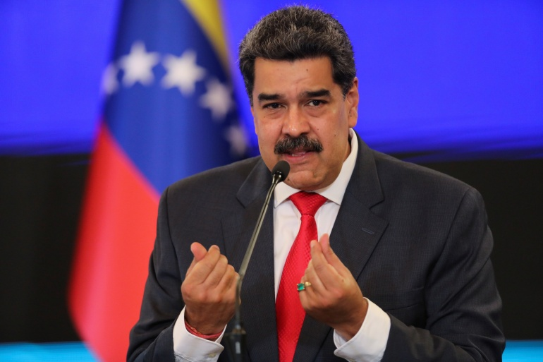 Venezuelan President Nicolas Maduro has accused opposition politicians of supporting US sanctions [File: Reuters]