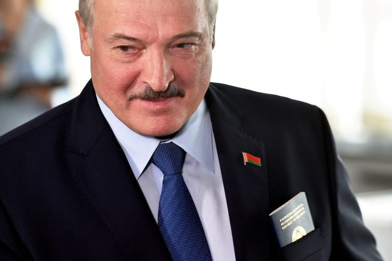 Lukashenko has been in power since 1994 and has overseen a crackdown on dissent in the ex-Soviet republic [File: Sergei Gapon/Pool via Reuters]