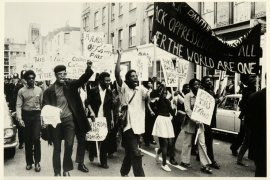The Black Panther Movement at the Mangrove Nine march in 1970 [Photo courtesy of National Archives UK]
