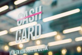 Many businesses in Sweden already have signs reading 'we are a cashless shop' and the country's central bank estimates only 10 percent of payments are made in cash [File: Bloomberg]
