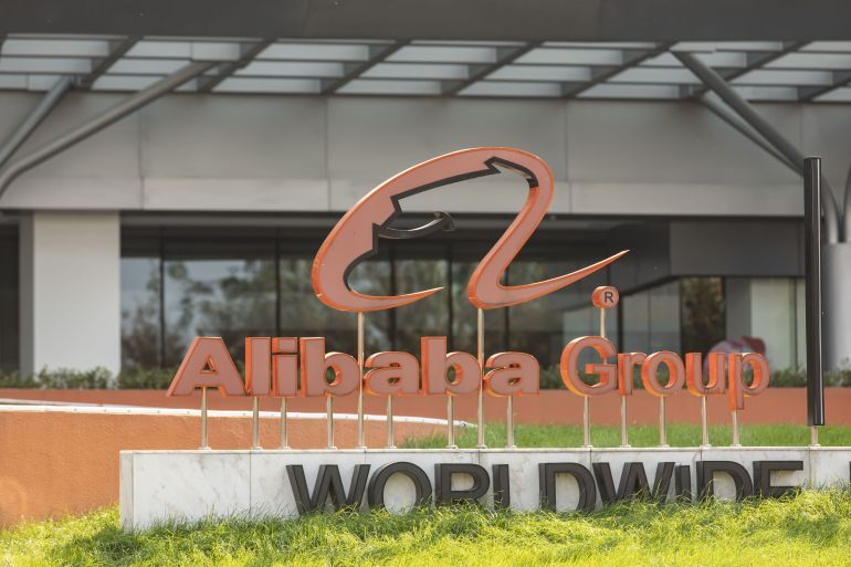 Alibaba said it would cooperate with Beijing's investigation into monopolistic practices and that its operations remain normal [File: Qilai Shen/Bloomberg]