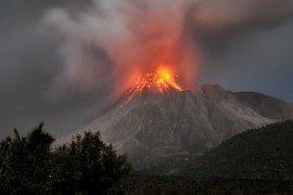 The Soufriere Hills volcano erupts in the Caribbean island of Montserrat on January 23, 2010. It has been one of the most active volcanoes in the Eastern Caribbean in recent years [File: Wayne Fenton/AP Photo]