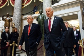 Senate Republican Leader Mitch McConnell's party is showing signs of resistance to President-elect Joe Biden's cabinet picks [File: Zach Gibson/AP Photo]