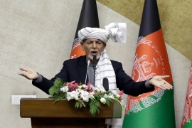 Ghani has resisted the proposal for a new transitional government in Afghanistan [File: Mariam Zuhaib/AP]