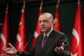 Erdogan demanded that his NATO allies need to pick sides [File: Turkish Presidency via AP]