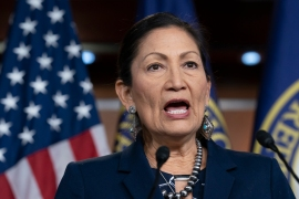 If confirmed as interior secretary, US Representative Deb Haaland would be the first-ever Native American cabinet secretary [File: J Scott Applewhite/AP]