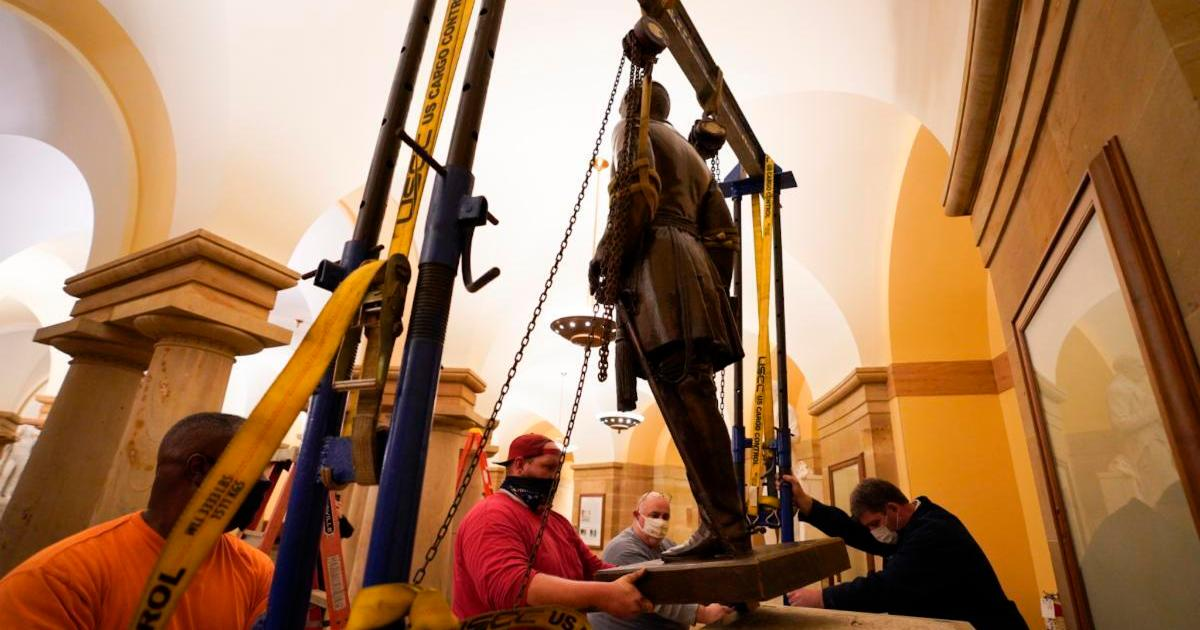 Confederate general's statue removed from US Capitol building thumbnail