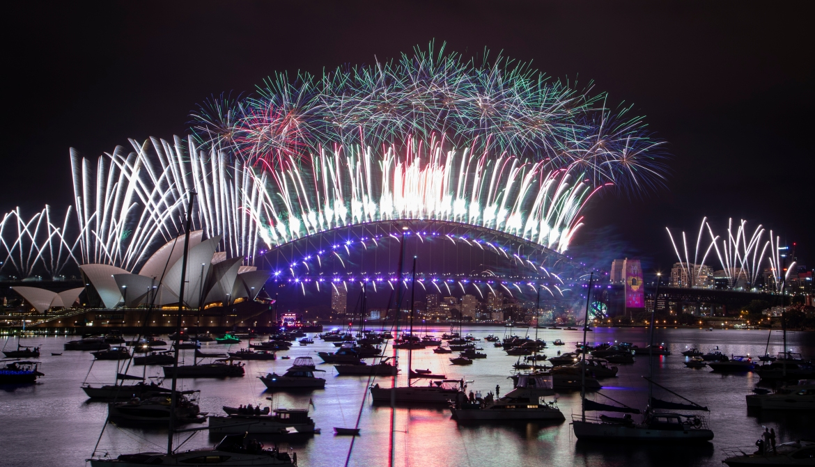 One million people usually crowd Sydney Harbour, Australia to watch the annual fireworks, but this year authorities advised revellers to watch the fireworks on television in an attempt to curb new COVID-19 outbreaks. [Mark Baker/AP Photo]